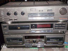 technics wzmacniacz amplifier SU-V45A CD SL-P370, magnetofon RS-TR373M