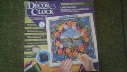 Вышивка лентами и биссером настенные часы