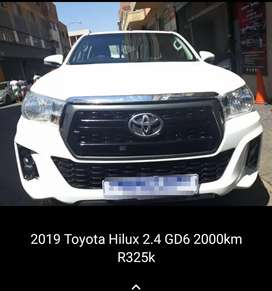 2019 model Toyota Hilux 2.4 gd6 double cab.