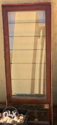 Image of Wooden window frame with glass