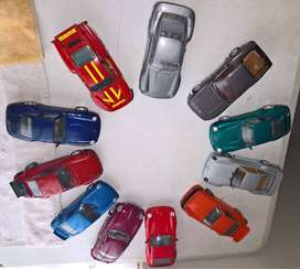 Collection of 1:24 scale model Porsches