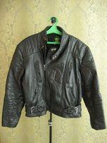 Куртка байкерская черная мужская косуха мото кожаная L 52-56