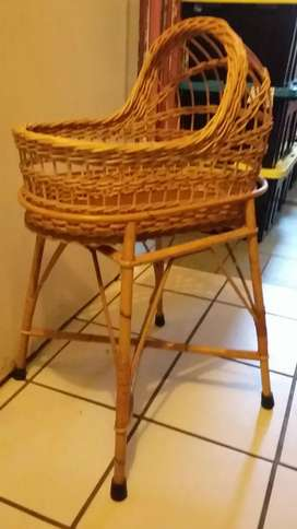 Cot cane cot for doll