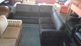 L-shaped couch. Space saver.