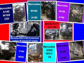 Mercedes engines for sale.