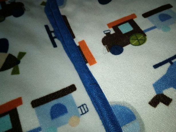 Kocyk dwustronny Baby Ono bąbelki niebieski różne pojazdy Kielce - image 2