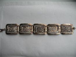Ladna srebna bransoletka proby 925
