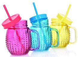 słoik na napoje ze słomką - DUKA - 3 kolory