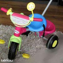 Rowerek 3-kołowy dla dziecka z rączką prowadnikiem