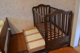 Кроватка детская деревянная с матрасом