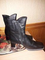 Женские кожаные зимние ботинки размер 40 новые