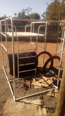 Braai stands and jungle gyms