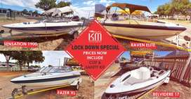 LOCK DOWN SPECIAL on ALL Boats