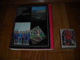 Набор открыток Советские спортсмены с автографами . Открытки.