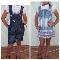 Джинсовий сарафан на девочку, джинсовий комбинезон/шорти