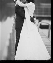 """Suknia ślubna ,,Madlen"""" biała, koronka – stan b. dobry + dodatki!!!"""