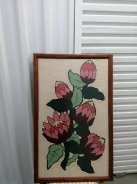 2 Hand-woven artworks or sale