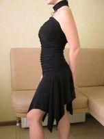 Коктейльное черное платье, для латины, вечернее, выпускное, рост 160