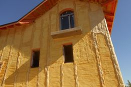 Утеплення Пінополіуретаном (ППУ)/Теплоізоляція фасадів, підлоги, даху.