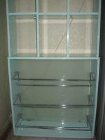 Полка - этажерка в прихожую нежно бирюзового цвета
