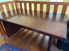 Thick wooden table