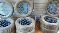 Image of Set of tyre chairs