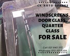 Windscreens, quarter glass and door glass for sale for most vehicle m