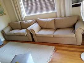 2 x 3-seater House & Home sofa couches available
