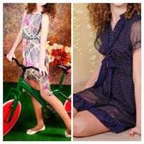 Шифоновое платье на лето . На рост 138 - 144 - 150