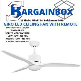 Giro LED Ceiling Fan with Remote