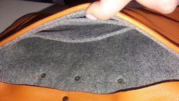 Sprzedam torebke kopertówkę skóra naturalna i filc, stan idealny!