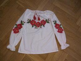 Вышиванка для девочки (машинная вышивка)