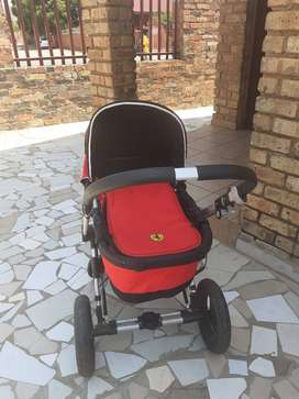 Second hand Beeopop Ferrari 2 in 1 pram for infants & toddlers