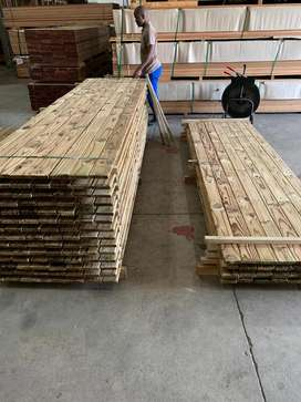 Treated Pine Deck Boards R250/sqm