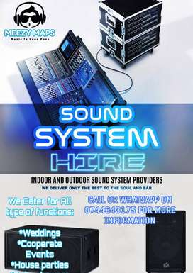 PA System for Hire R1500 a day