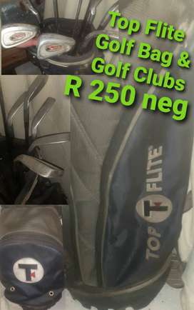 Golf Bag with 8 clubs