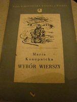 """książka """"Wybór wierszy"""" Maria Konopnicka"""