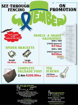 See-Through Fencing & Accessories on PROMOTION