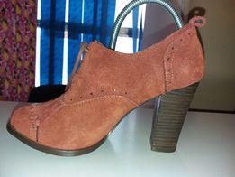 Замшевые туфли ботильоны LAUREANA