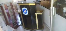 Custom Designed Pulpits/ podiums. Wing Style.