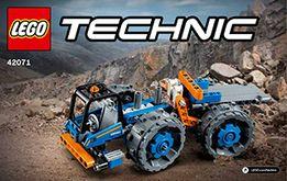 LEGO Technic 2 w 1 Spycharka i Ciężarówka przegubowa jak laweta 42071