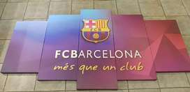 Barcelona 5 piece mounted canvas