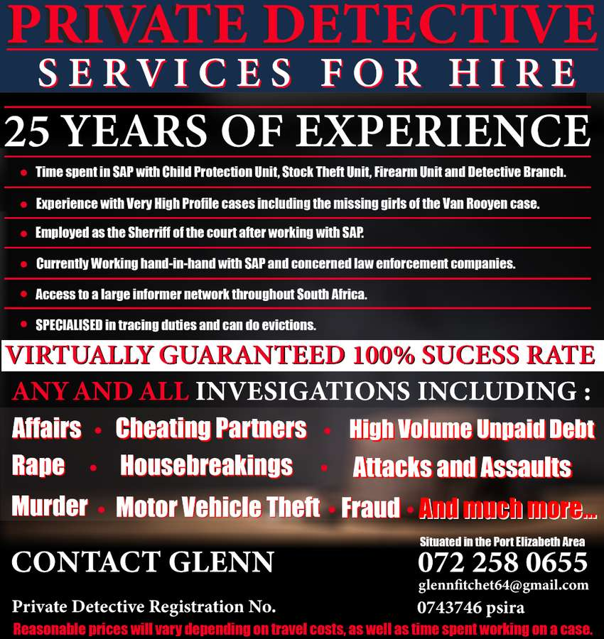Private Detective Services for Hire 0