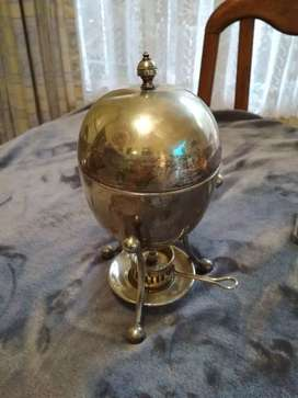 Antique silver plated egg coddler