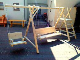 Meble ogrodowe drewniane huśtawka plac zabaw dostawa i montaż 100zł