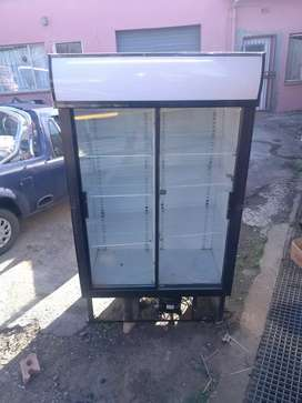 Glass fridge