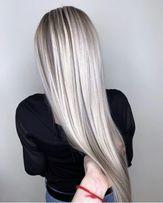 Наращивание волос. 800грн.Ботокс.Растяжка цвета.
