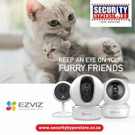Keep an eye on your furry friends. With EZVIZ cameras
