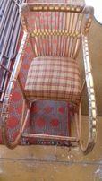 Wiklinowy fotel bujany dla dziecka