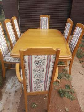 Dinning room suit with 8 chairs